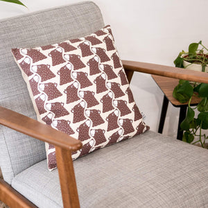 Bear Print Cushion