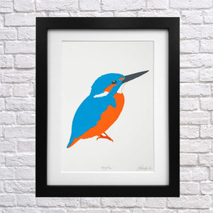 Kingfisher Screen Print