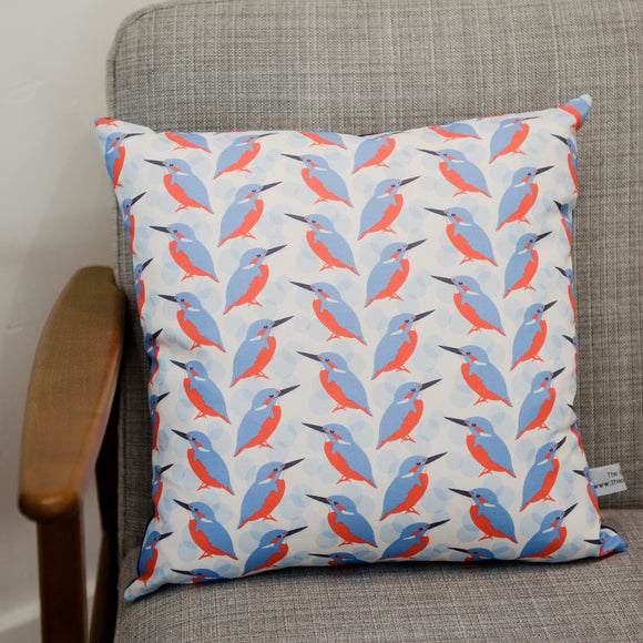 Kingfisher Print Cushion