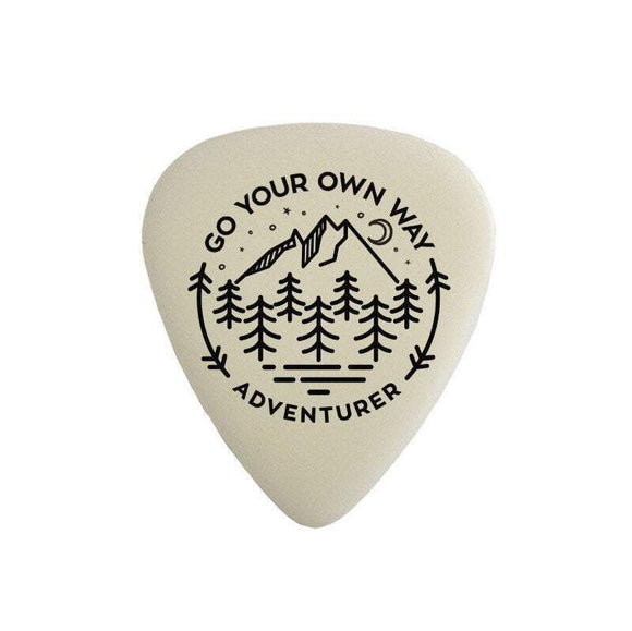 Go your own way - adventurer - glow in the dark - plectrum