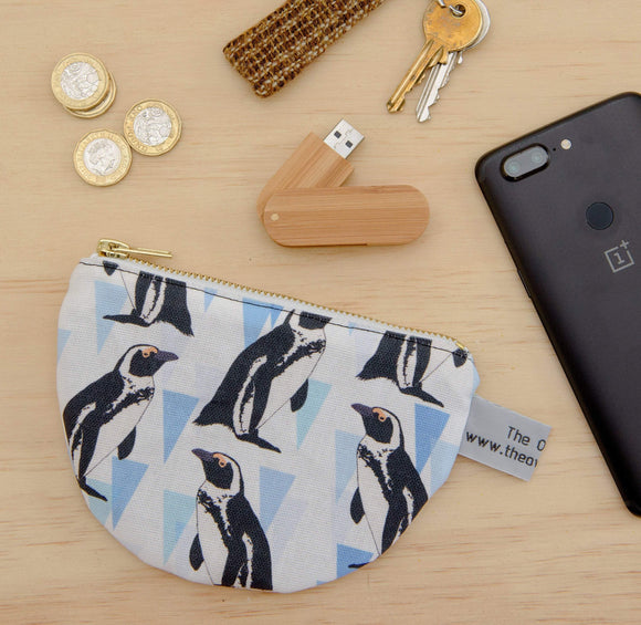 African penguin print purse