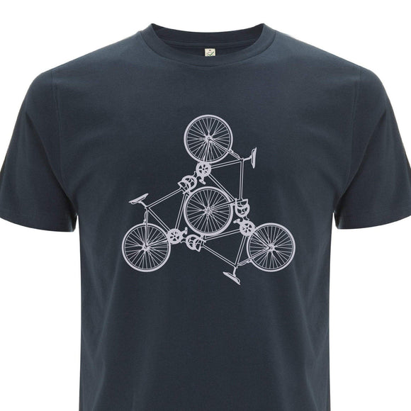 Road Bike Trio Organic Cotton T Shirt