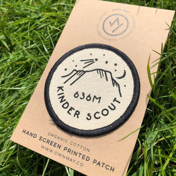 Kinder Scout - Peak District - Organic Cotton Patch