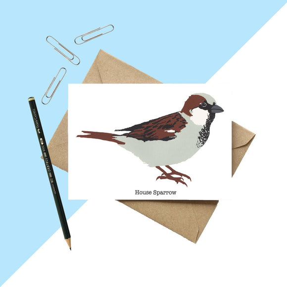 House Sparrow Greetings Card