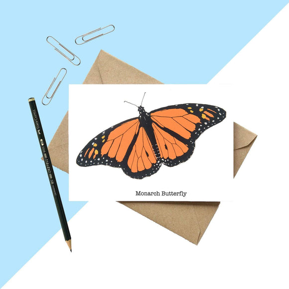 Monarch Butterly Greetings Card