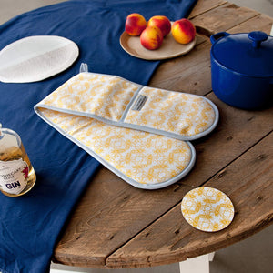 Bee Print Double Oven Gloves