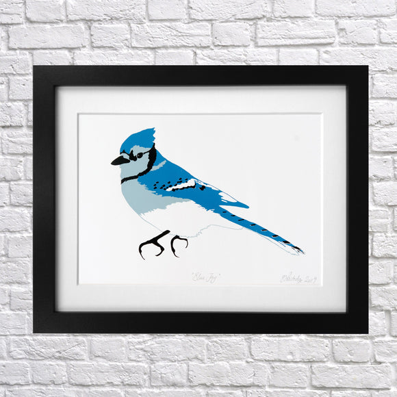 Blue Jay Screen Print