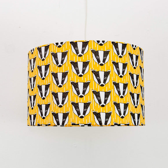 Badger Print Lampshade