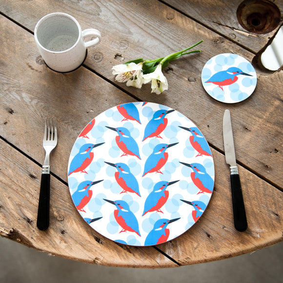 Kingfisher Print Placemat