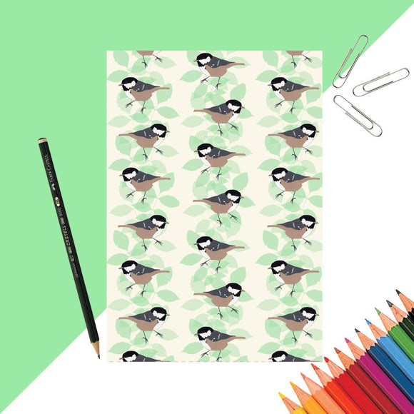 Coal Tit Print Notebook