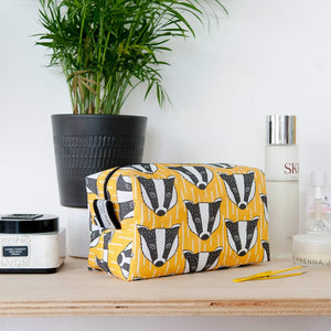 Badger Print Wash Bag