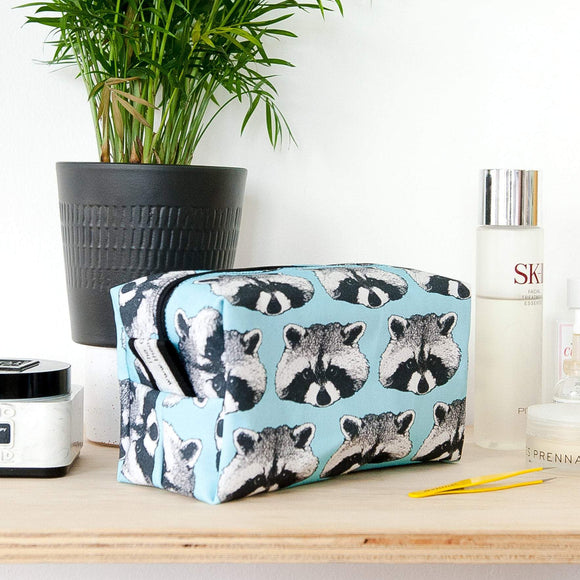 Raccoon Print Wash Bag