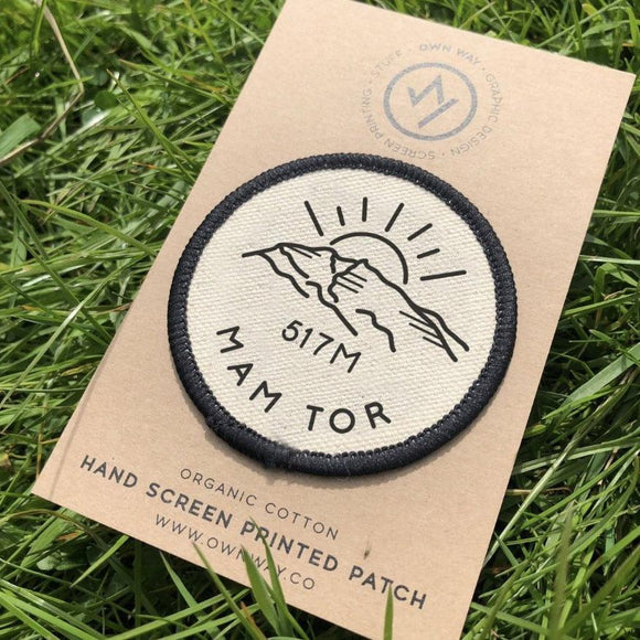 Mam Tor - Peak District - Organic Cotton Patch