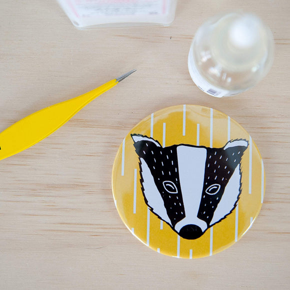 Badger Print Pocket Mirror