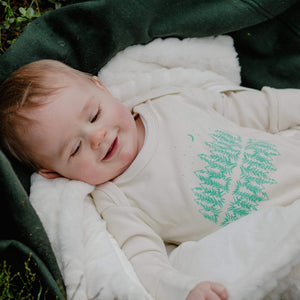 Baby glow in the dark forest sleepsuit - Organic Cotton