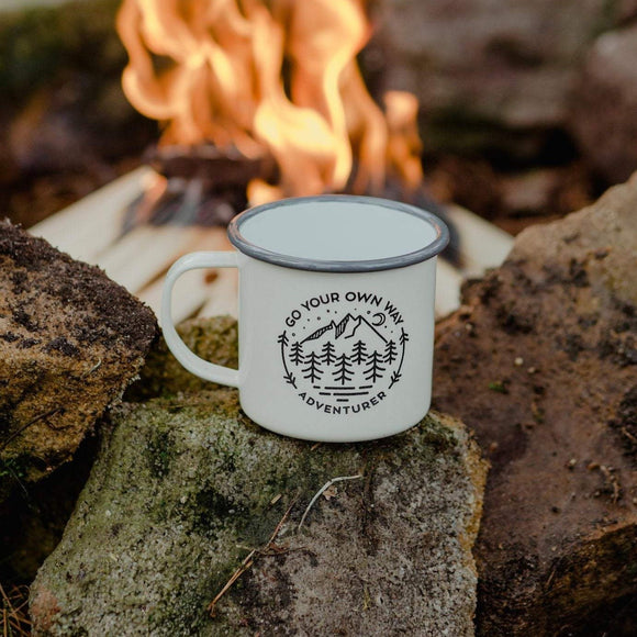 Enamel camping mug - Go Your Own Way Adventurer