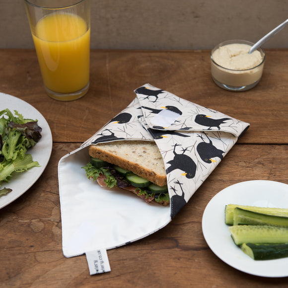 Blackbird Print Sandwich Wrap