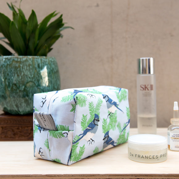 Blue Jay Print Wash Bag
