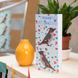 Waxwing 'Thank you' Greetings Card