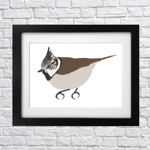 Crested Tit Screen Print