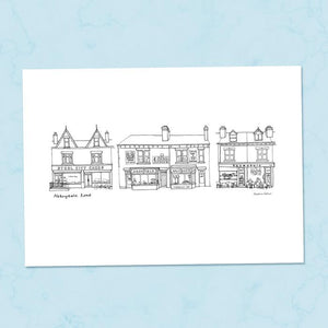 Abbeydale Road Sheffield A4 Illustration Print