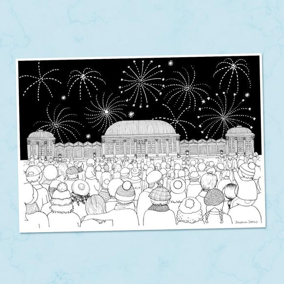 Botanical Gardens Fireworks Sheffield A4 Illustration Print