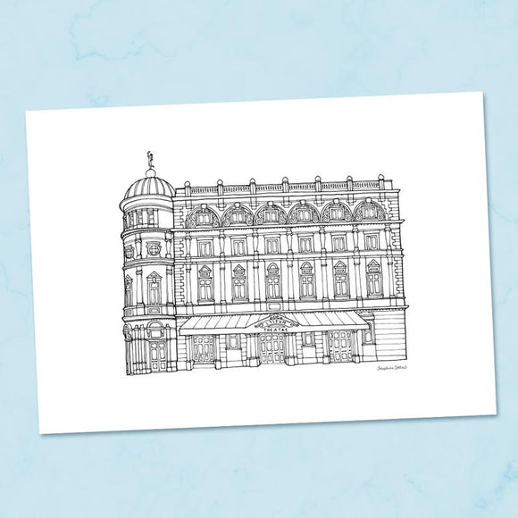 The Lyceum Sheffield A4 Illustration Print
