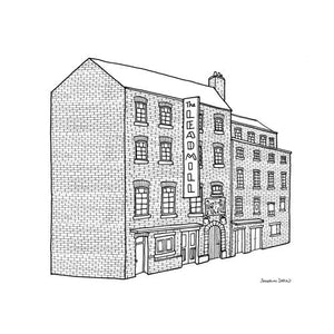 The Leadmill Sheffield Square Print 21cm