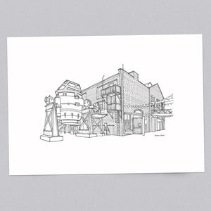 Kelham Island Museum Sheffield A3 Illustration Print