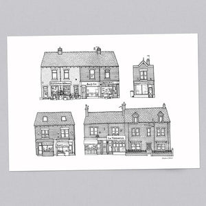 Sharrow Vale Road Sheffield A3 Illustration Print