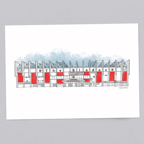 Sheffield United Blades A3 Illustration Print