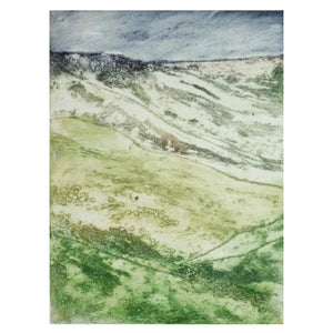 "Art Card - ""Rain Approaching Kinder Edge"""