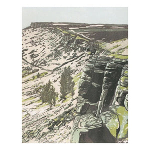 "Art Card - ""At the Edge"" - Stanage Edge """