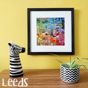 """100 Fragments of Leeds in Colour"" Photo Montage"