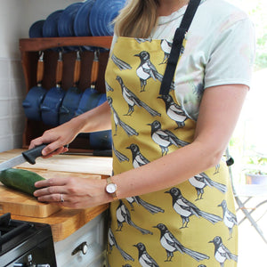Yellow Magpie Kitchen Apron