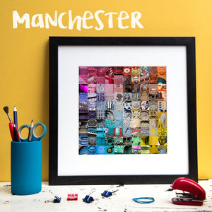 """100 Fragments of Manchester in Colour"" Photo Montage"