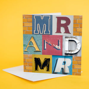 "Typography Card ""Mr & Mr"""