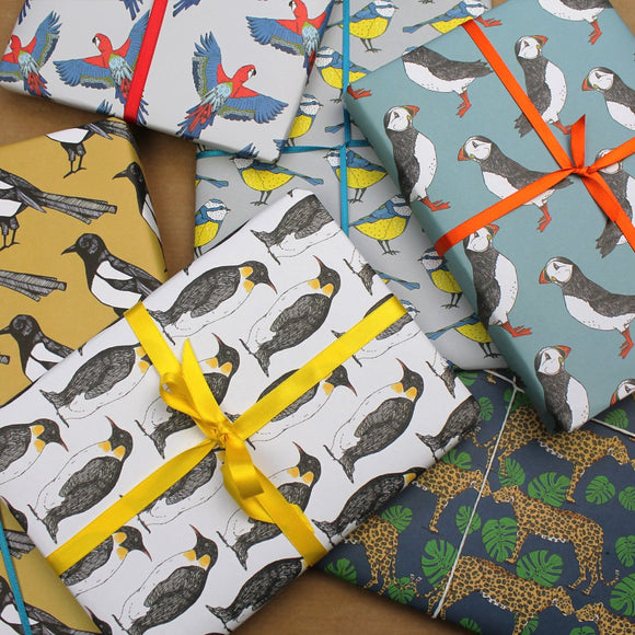 Mixed Animal and Bird Gift Wrap Pack