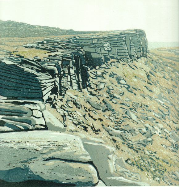 On the Edge , Stanage - Art Print