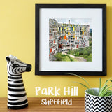 """100 Remnants of Sheffield Park Hill Flats"" Photo Montage"