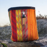 Recycled Climbing Rope Vert Chalk Bag - Fire