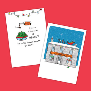 Henderson's Relish Sheffield Christmas Cards - Pack of 6