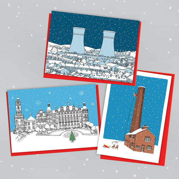 Sheffield Landmarks Christmas Cards - Pack of 6