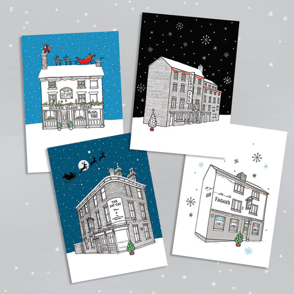Sheffield Pubs Christmas Cards - Pack of 8