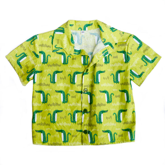 Age 3 Kids Handmade Shirt - Crocodiles