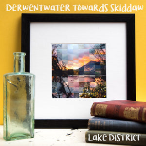 """100 Remnants of Derwent Water towards Skiddaw - Lake District"" Photo Montage"