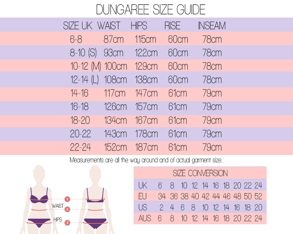 Dungaree Size Guide