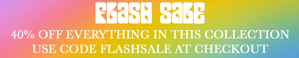 FLASH SALE 40% OFF WITH CODE FLASHSALE