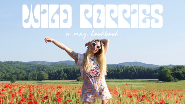 wild poppies lookbook boho hippie clothing fashion shop online