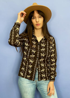 Vintage 70's Patchwork Suede and Leather Waistcoat - M
